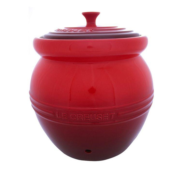 Potato Jar Stoneware Red Le Creuset