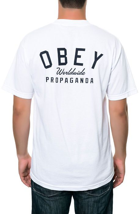 Obey Tee Obey Worldwide Prop. in White - Karmaloop.com