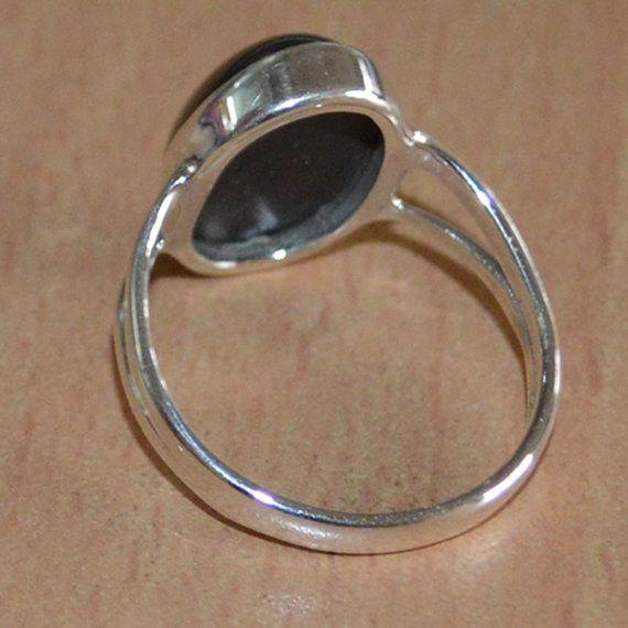 Zwarte Onyx Ring met natuurlijke edelsteen Ring door DevmuktiJewels