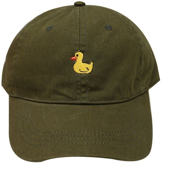 Yellow Rubber Duck Baseball Cap Adjustable Washed Cotton Dad Hat Hats