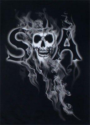 Smoky Reaper – Sons Of Anarchy T-shirt: Adult Small – Black   bikeraa.com