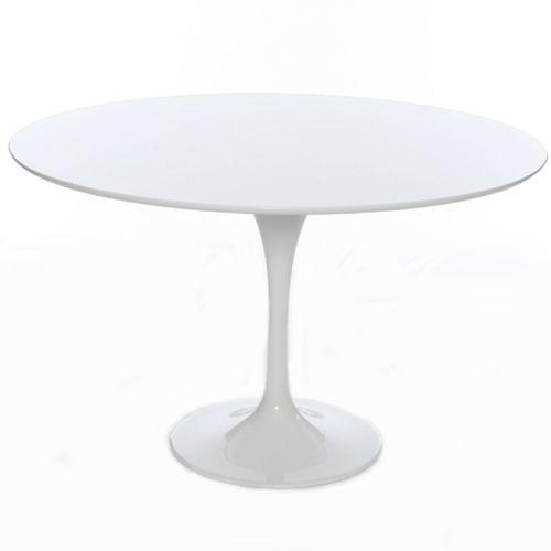 120cm Modern White Tulip Circular Designer Table