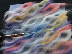 Paula Scaffidi's best-ever foundation courses for machine needle felting. undulating curves in fiber