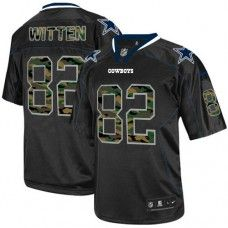 Mens Nike Dallas Cowboys http://#82 Jason Witten Elite Camo Fashion Black Jersey$89.99