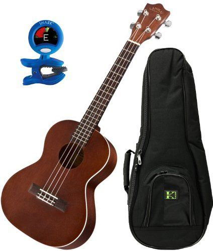 Lanikai LU-21T Nato Wood Tenor Ukulele w/Deluxe 20mm Padded Gig Bag and Tuner by Lanikai. $124.00. The Lanikai LU-21T Ukulele has a larger sized tenor body. The top, back, and sides are nato, which is very similar to mahogany. Other features include an easy-to-play rosewood fingerboard and bridge, die-cast tuners for solid tuning, and binding on the top.  Lanikai ukuleles have great playability, sound, and aesthetics at a price that will surprise you.. Save 45%!