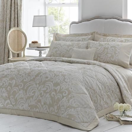 Dorma Gold Versailles Collection Quilted Throw | Dunelm Mill