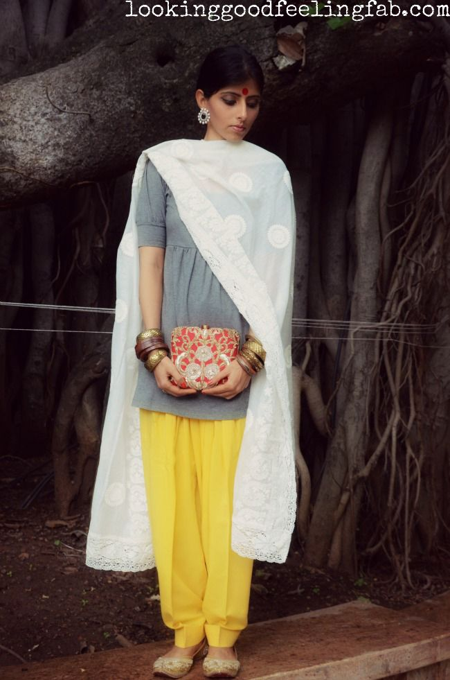 #Sabyasachi inspired simple #Indian look. Love the dupatta
