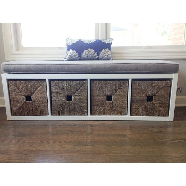 bookshelf on its side with cushions add castor wheels to make it a moveable bench seatskinny day bed and with storage