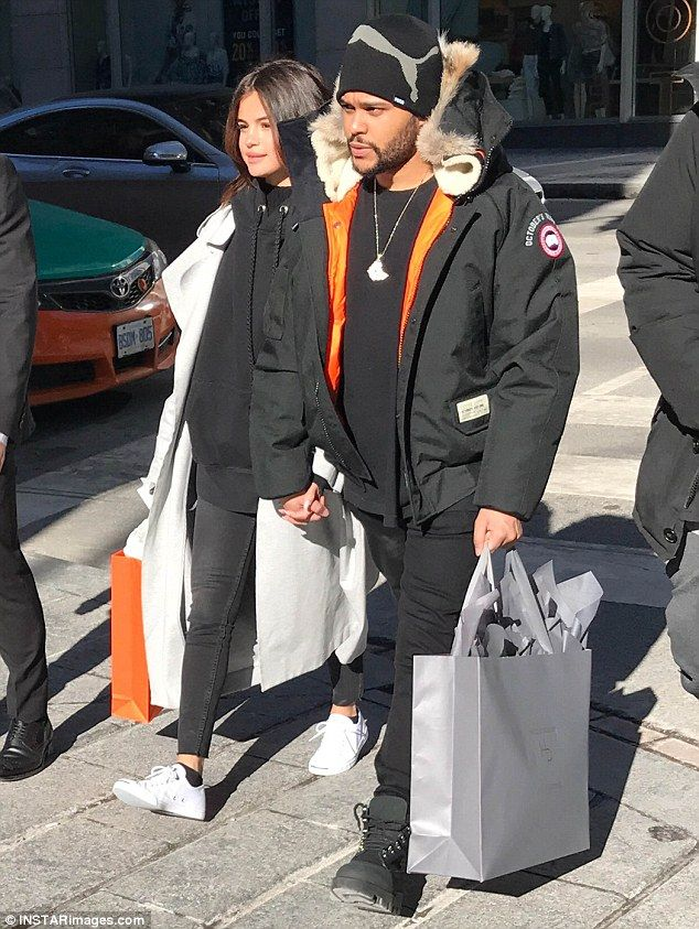 Hand in hand: Selena Gomez and The Weeknd enjoyed a shopping trip in his hometown of Toron...
