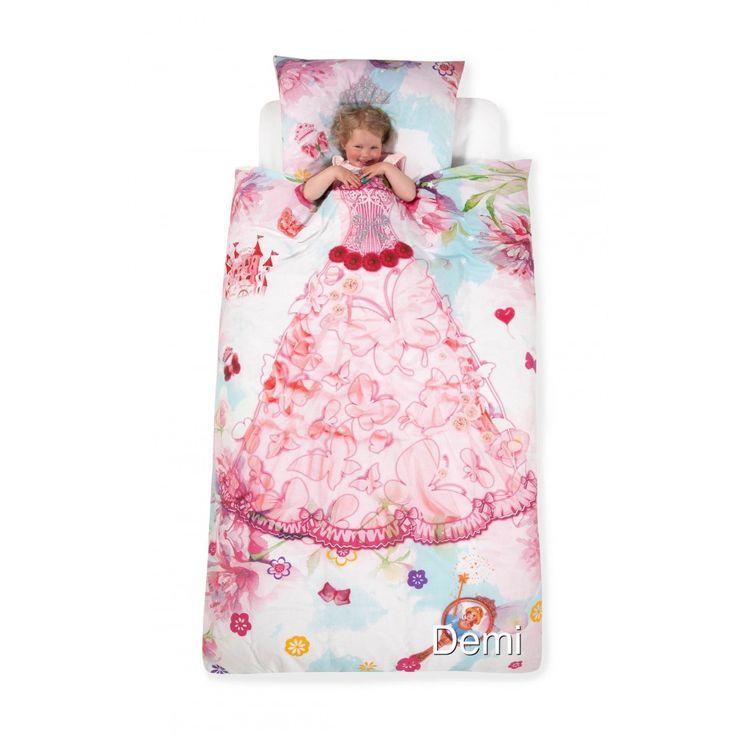 Demi dekbedovertrek (prinses, roze) | textielhuis.nl