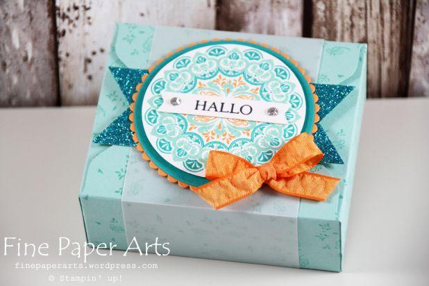 Stampin up - Envelope Punch Board Box, Sale-A-Bration 2017, Stempelset Mein Medaillon, stampset make a medaillon - Fine Paper Arts