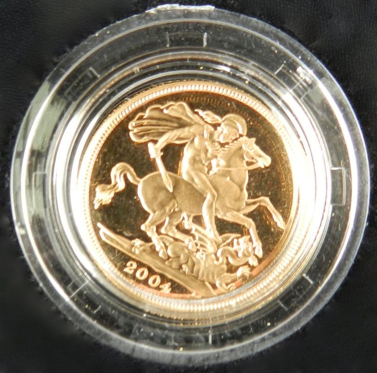 2004 United Kingdom Gold Proof Sovereign in Box and COA