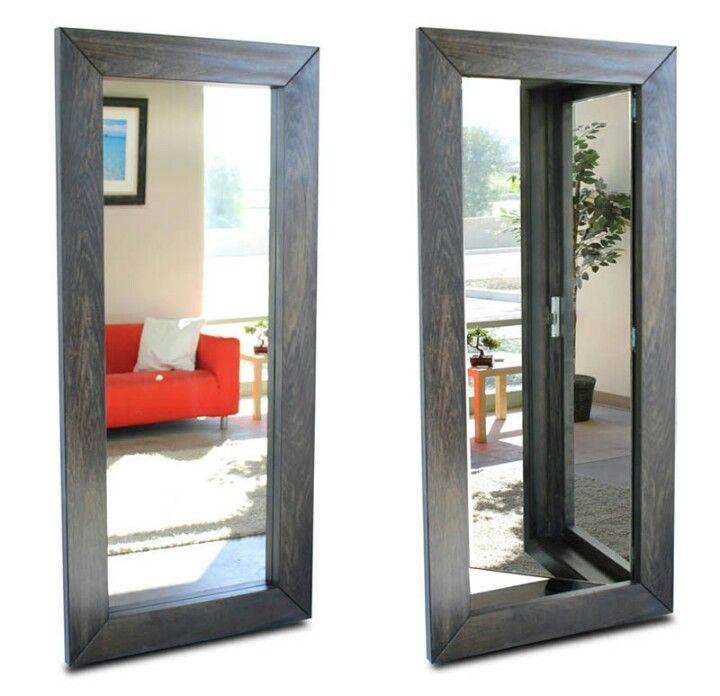 Hidden door behind mirror frame hidden doors secret for Hidden door ideas