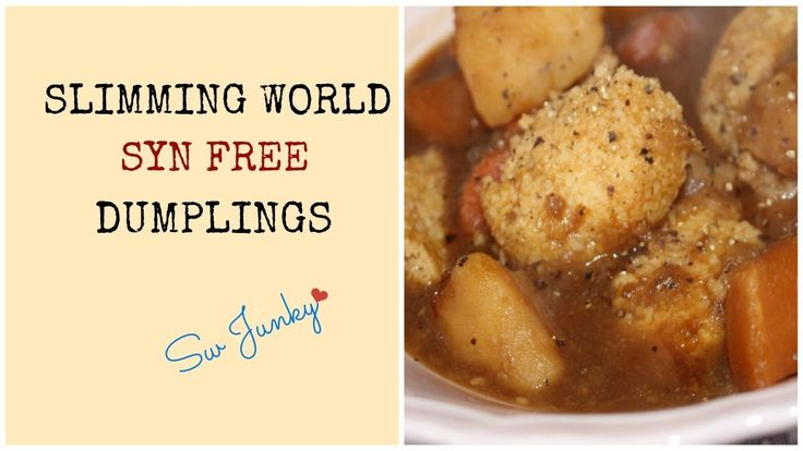 Slimming World Syn Free Dumplings Recipe as requested by my lovely friends over at Instagram. Follow my daily food diary on Instagram - SWJUNKIE Check me out...
