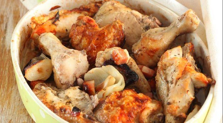 Запеченная курица по-деревенски