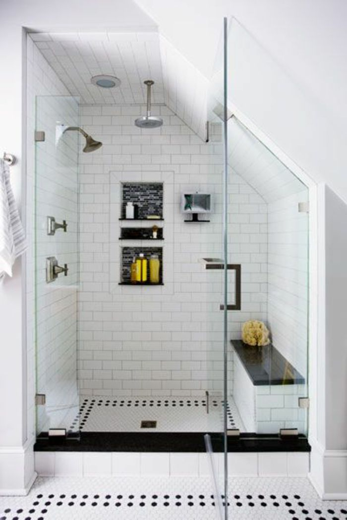 faience salle de bain leroy merlin noir et blanc pour la salle de bain sous pente