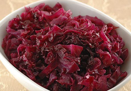 Braised Red Cabbage.