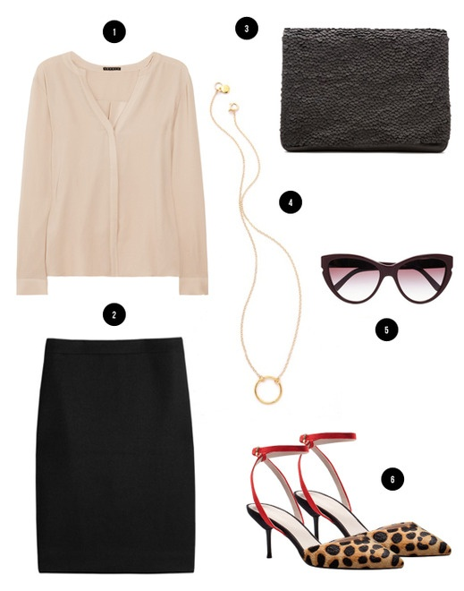 Cuyana Blog: How to Wear It: Leather Sequins Clutch: Outfits Desperate