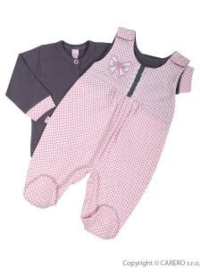 Kabátek a dupačky Koala Bella , Barva - Růžová , Velikost - 62