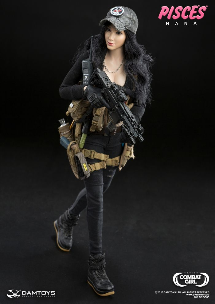 blk woman boots 1//6 Scale DAMTOYS DCG003 COMBAT GIRL SERIES PISCES NANA