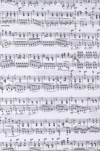 Carta trasparente-note musicali, DINA4, 5 fogli