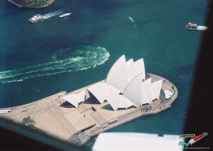 """Over the Sydney Opera House. """"The Truth about Flying"""": http://www.confiscatedtoothpaste.com/the-truth-about-flying/"""