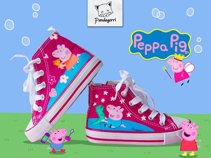 Zapatillas Peppa Pig / Peppa Pig kicks by Pandagorri.deviantart.com on @deviantART