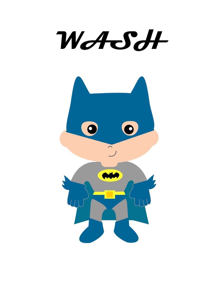 Wash Brush Floss Flush Super Heros!  Graphics from SpringHIll Graphics only $4.95! for the set Now to just get some paper modge podge, some plain canvases and voila bathroom decorated for the boys!