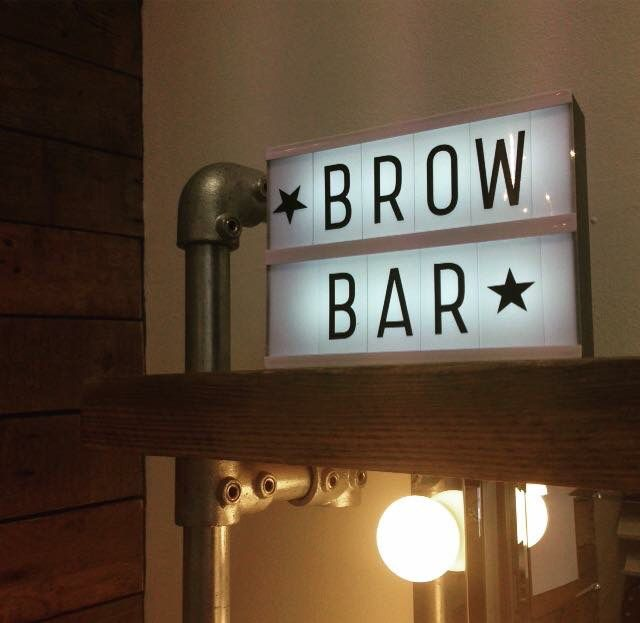 Brow Bar light box.