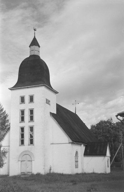 Poutvaara Matti, 1945: Ilmajoen museo kuvattu päätytörnin puolelta. (Ilmajoki, Museovirasto)