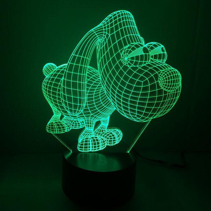 Cute Awesome Dog Night Light Lamp