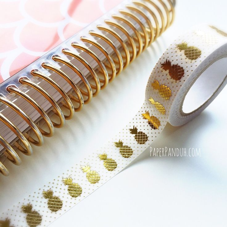 pineapple gold foil washi tape-- perfect for decorating around summer plans in your agenda!