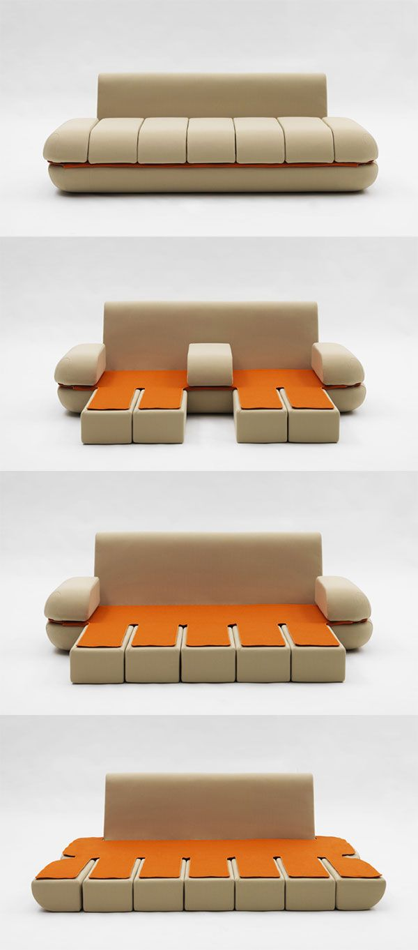 Sofa Dynamic Life - Design by Matali Crasset - Edited by Campeggi in 2011