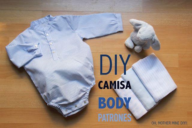DIY Cómo hacer camisa-body para bebé (patrones gratis)