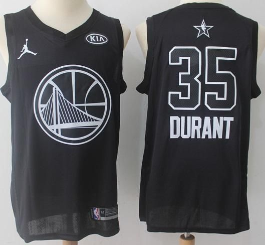 super popular 4713b 058aa Men 2018 All Star Kevin Durant Jersey Black Golden State ...