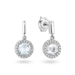 Georgini Silver On A White Note Earrings (001-024-09588)
