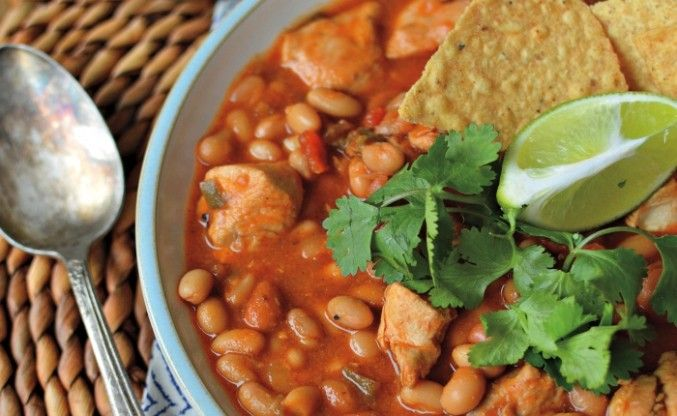 Recipe for Simple Slow-Cooker Chicken Chili from Taste Canada finalist Gatherings Bringing People Together with Food for Gusto TV.
