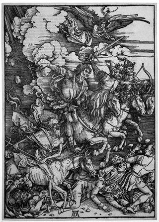 Les quatre cavaliers de l'Apocalypse, ouverture des six premiers sceaux - 1498