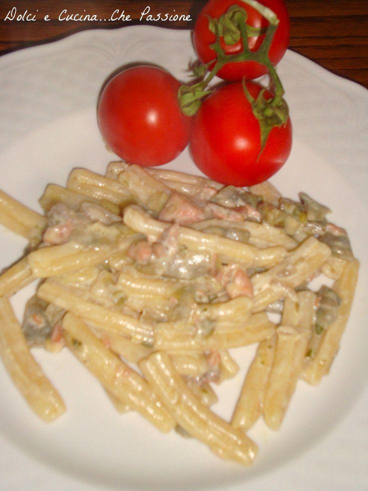 Casarecce Carciofi e Salmone Affumicato, ricetta mare e monte