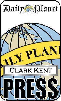 Clark Kent Press Pass Daily Planet Superman ID Card Pro | eBay
