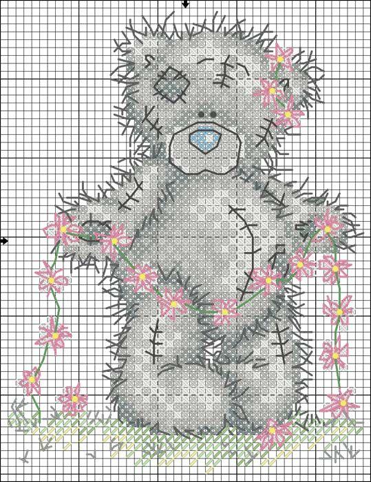 Схема вышивки крестиком - мишка Тедди / Вышивка крестиком и бисером - схемы и хвастушки / Лунтики. Развиваем детей. Творчество и игрушки