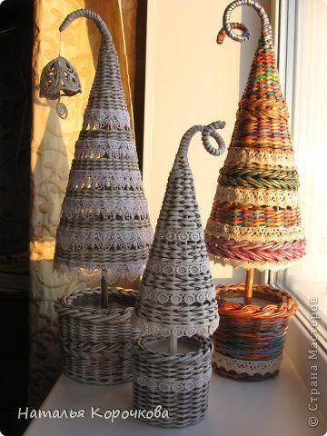 Поделка изделие Новый год Плетение Кое-что успела к Новому году Кружево Трубочки бумажные фото 1