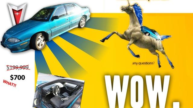 "Best Craigslist Car Ad ever... 1995 Pontiac Grand AM GT (aka ""Jesus Tap-Dancing Christ"")"