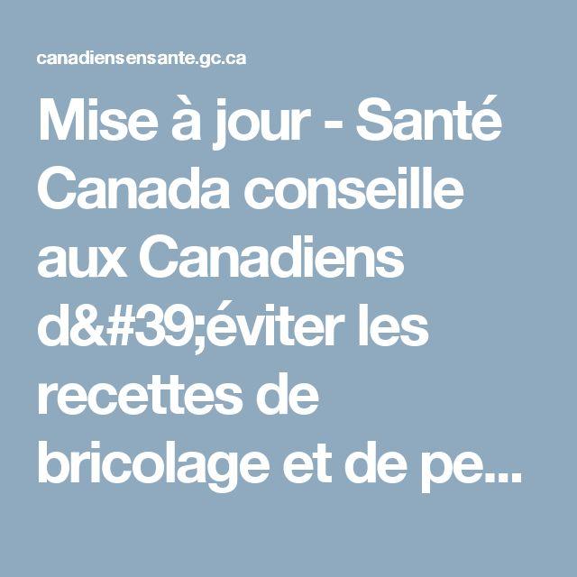 Mise à jour - Santé Canada conseille aux Canadiens d'éviter les recettes de bricolage et de pesticides contenant de l'acide borique - Rappels et avis de sécurité