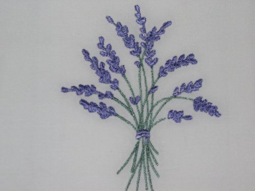 Lavender embroidered embroidery embellishment