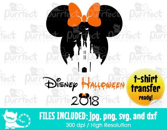 Disney Halloween #2 Svg Clipart Printable Eps Jpg Png Silhouette file and Cricut File.