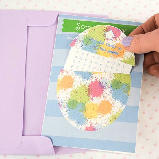 Make this cute Easter card with this free printable and tutorial.