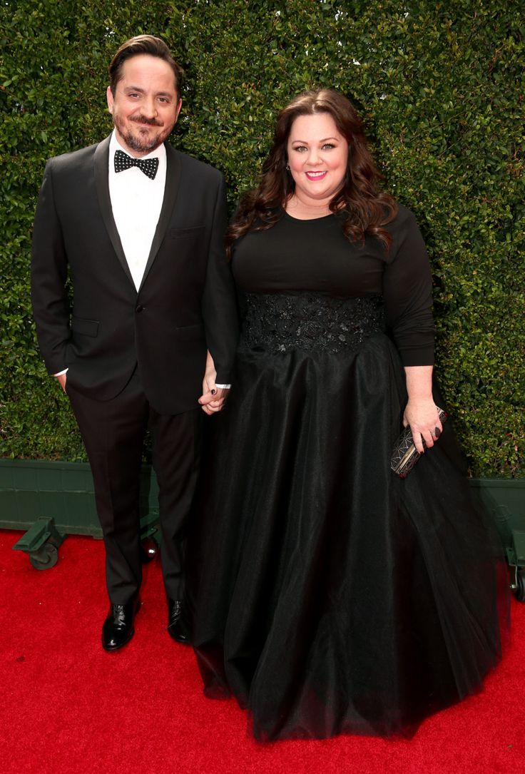 Ben Falcone, Melissa McCarthy at the Emmy Awards.