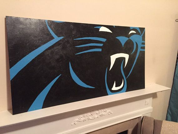 Carolina Panthers Logo Painting By InkTopiary On Etsy