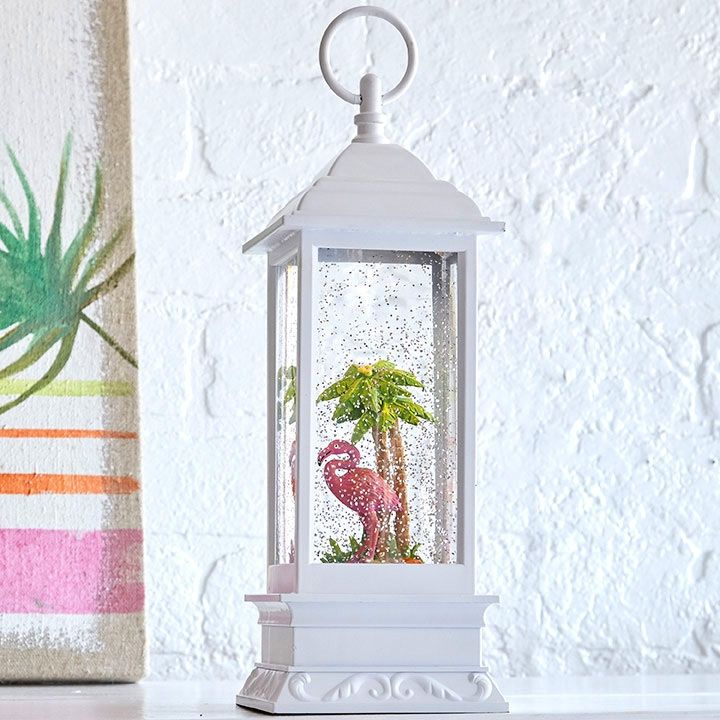 Check out the deal on 11 Inch Pink Flamingo Lighted Water Lantern - Timer From RAZ at Battery Operated Candles